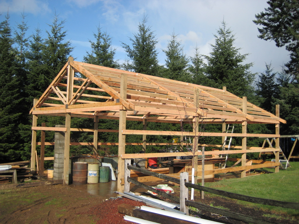 How to build a pole barn shed ~ Haddi